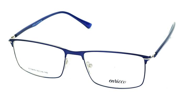 Pánske kovové modré dioptrické okuliare 725