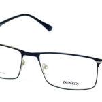 Pánske kovové čierne dioptrické okuliare 726