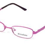 Detské kovové ružové dioptrické okuliare 0146