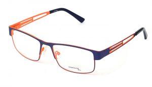 Unisex kovové modro - oranžové dioptrické rámy 0399