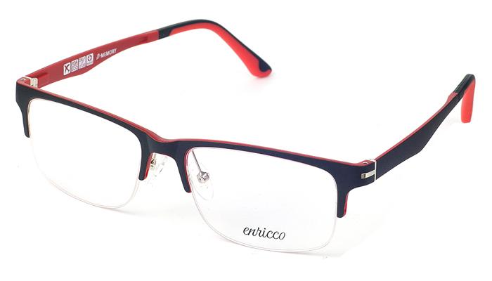 Unisex plastové červeno - čierne dioptrické rámy 0631