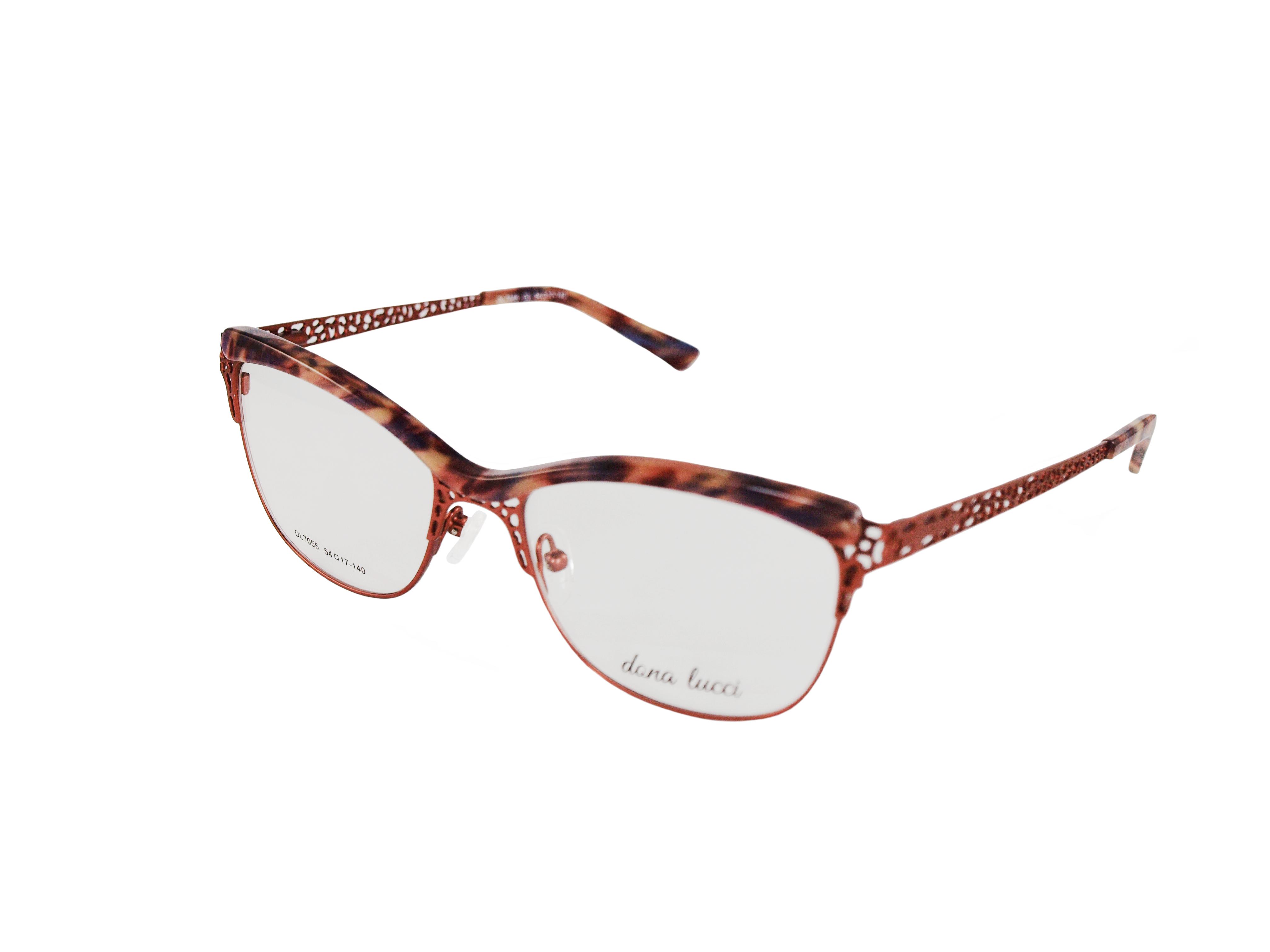 Dámske kovové hnedé dioptrické okuliare 0738