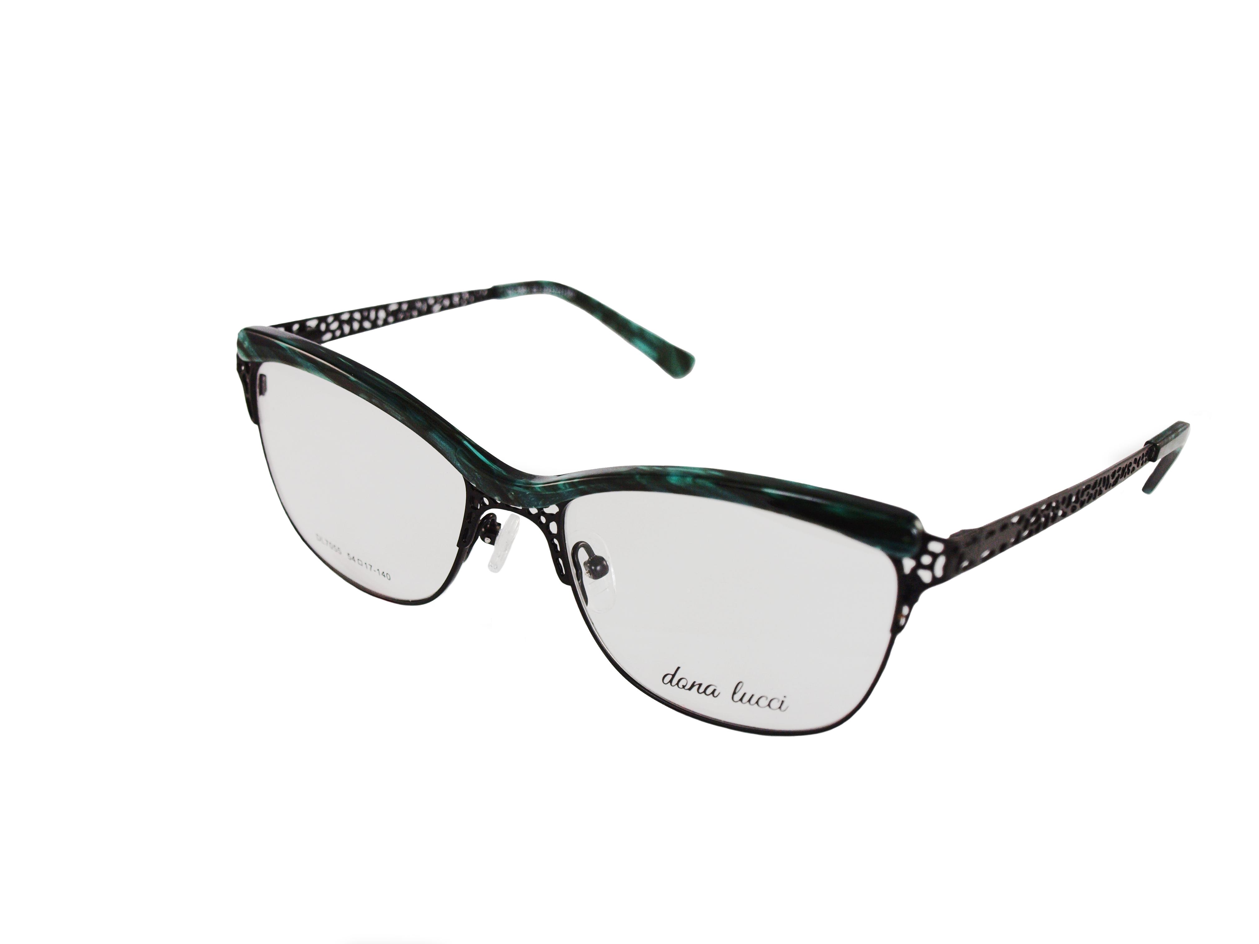 Dámske kovové zelené dioptrické okuliare 0739