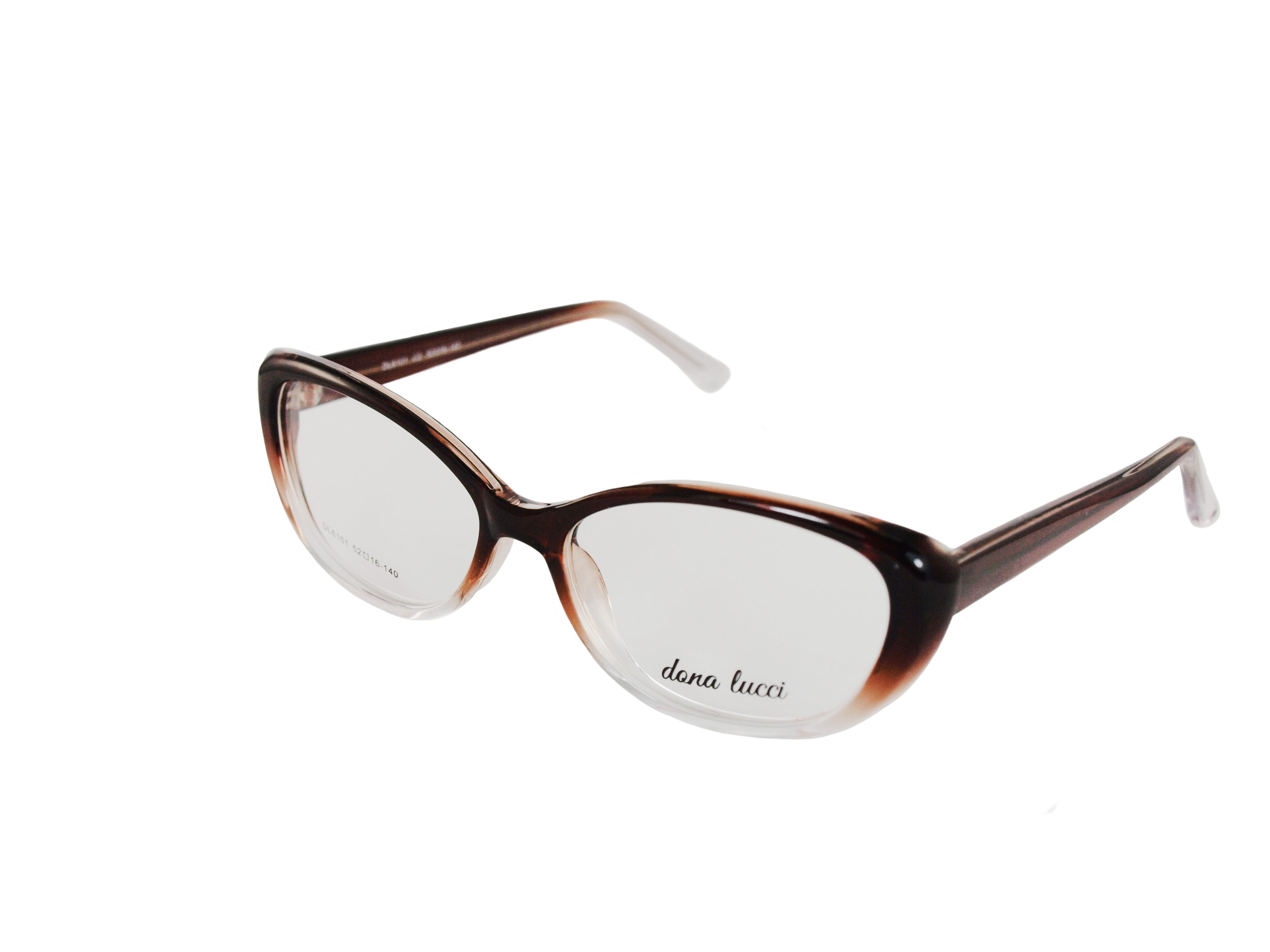 Dámske plastové tmavohnedé dioptrické okuliare 0732