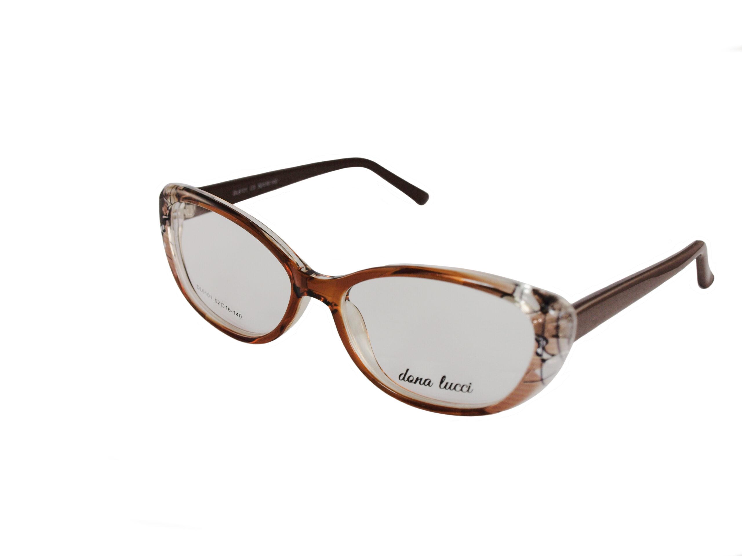 Dámske plastové hnedé dioptrické okuliare 0733