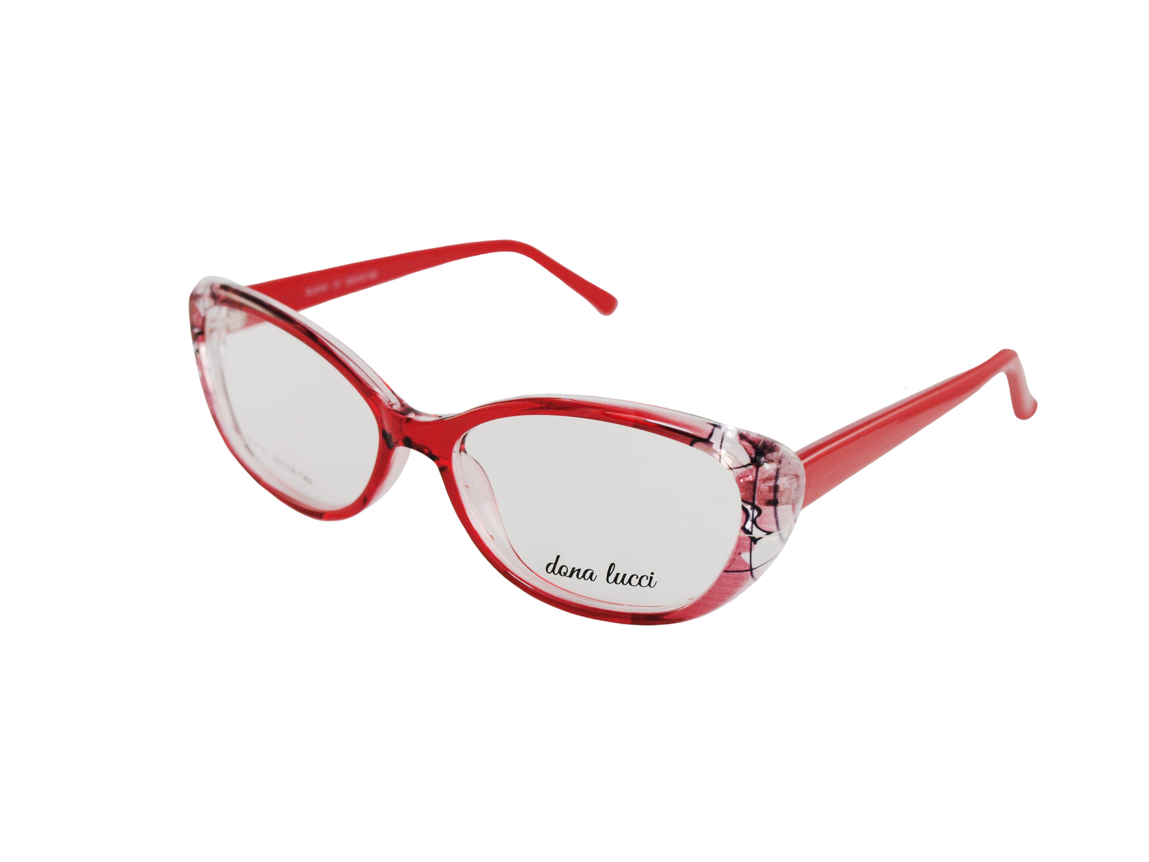 Dámske plastové červené dioptrické okuliare 0731