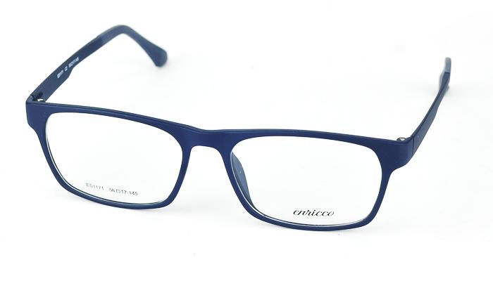 Pánsky plastový modrý dioptrický rám 0748