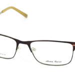 Pánske kovové hnedé dioptrické okuliare 0753