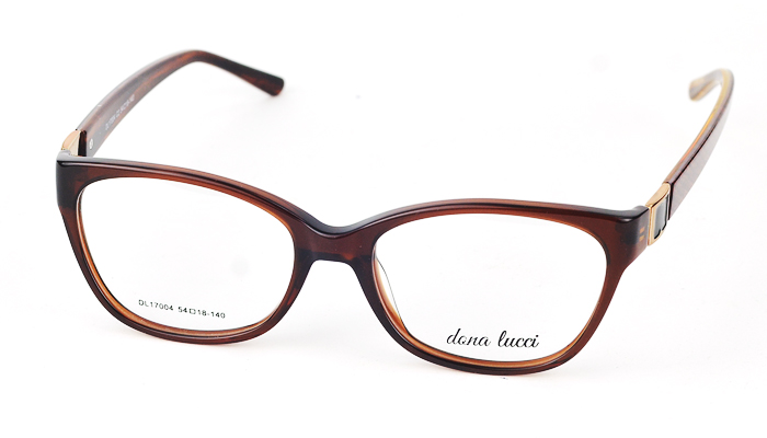 Dámske plastové hnedé dioptrické okuliare