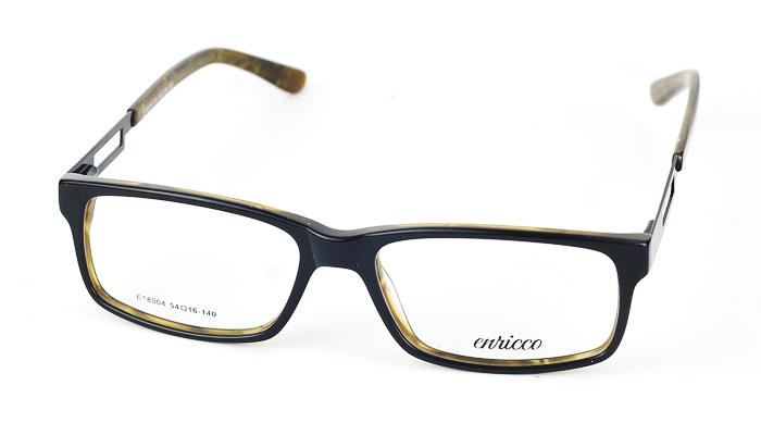 Dámske plastové čierno-hnedé dioptrické okuliare 0869