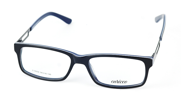 Dámske plastové čierno-modré dioptrické okuliare 0866
