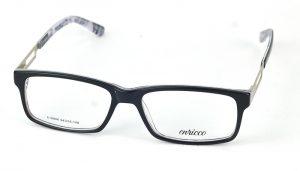 Dámske plastové čierno biele dioptrické okuliare 0868