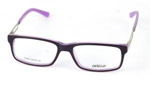 Dámske plastové čierno-fialové dioptrické okuliare 0867