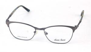 Dámske kovové šedé dioptrické okuliare 0857