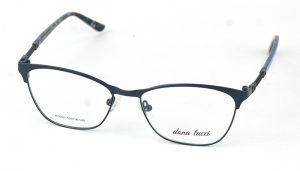 Dámske kovové tmavo-modré dioptrické okuliare 0859