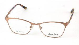 Dámske kovové hnedé dioptrické okuliare 0858