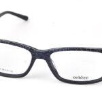 Unisex plastové čierne dioptrické okuliare 0825