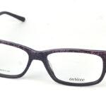 Unisex plastové čierno-fialové dioptrické okuliare 0826