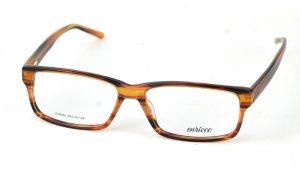 Unisex plastové hnedo-žíhané dioptrické okuliare 0819