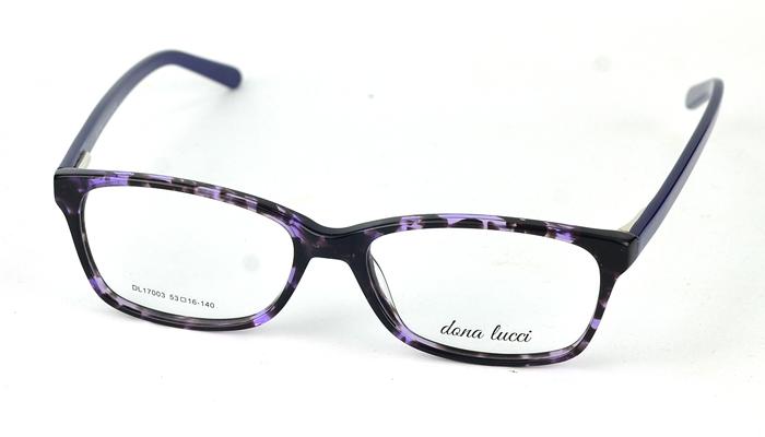 Dámske plastové čierno-fialové dioptrické okuliare 0817