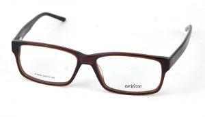 Unisex plastové hnedé dioptrické okuliare 0818