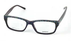 Unisex plastové hnedo-zelené dioptrické okuliare 0828