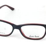 Dámske plastové bordové okuliare 0811