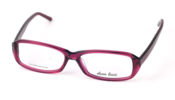 Dámske plastové fialové dioptrické okuliare 0837