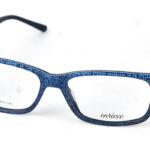 Unisex plastové čierno-modré dioptrické okuliare 0827
