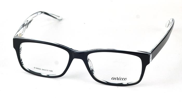 Pánske čierno biele dioptrické okuliare 0835