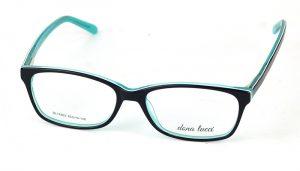 Unisex plastové čierno-zelené dioptrické okuliare 0816