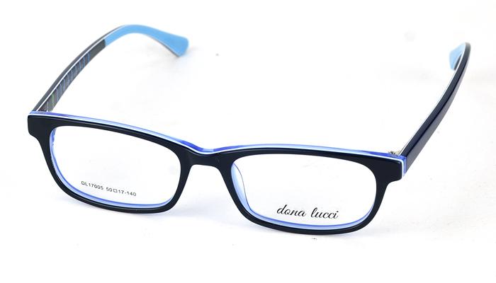 Plastový modro-čierny dioptrický rám 0823