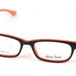 Plastový oranžovo-čierny dioptrický rám 0824
