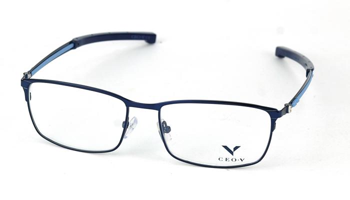 Pánske kovové modré dioptrické okuliare 0842