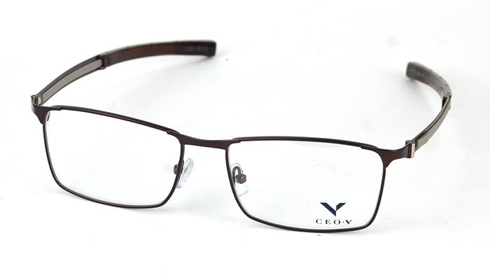 Pánske kovové hnedé dioptrické okuliare 0840