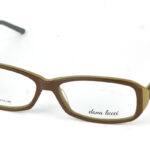 Dámske plastové hnedé dioptrické okuliare 0839