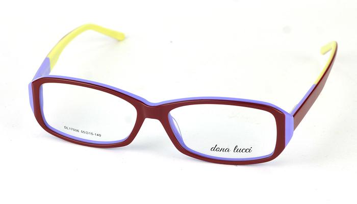 Dámske plastové viacfarebné dioptrické okuliare 0838