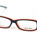 Dámske plastové čierno-oranžové dioptrické okuliare 0836