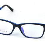 Pánsky plastový čierno-modrý dioptrický rám 0843